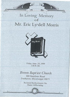 Eric Lydell Morris was the husband of Marilyn Marshall-Morris (6th Generation)