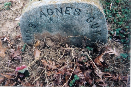 Agnes Scott-Guy was the wife of William A. Guy.