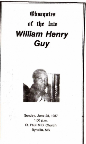 William Henry Guy Jr. (1921-1987)